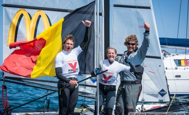 Henri Demesmaeker and Frederique van Eupen (BEL) winners Nacra 15 Worlds 2018