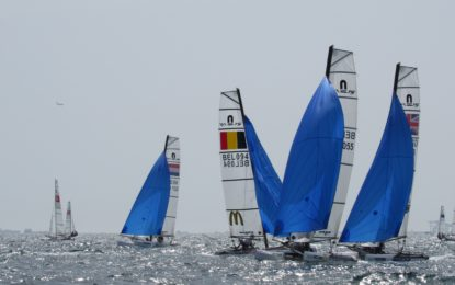 Nacra 15 Europeans started at Lake Como