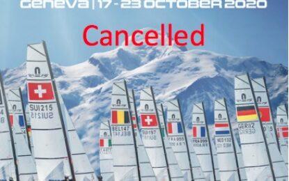 Nacra 15 World Championships, Geneva,  17th – 23rd October 2020, CANCELLED.
